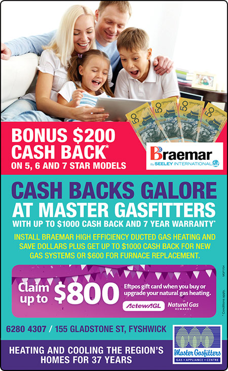 April 2017 house heating promotion for Canberra region.